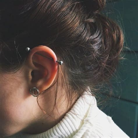 Industrial Piercing Pain, Healing Time, Cost (with 75