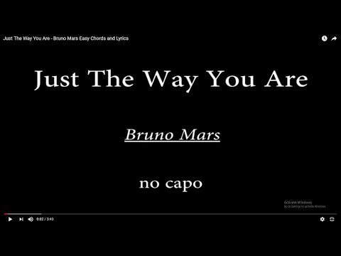 Bruno Mars - Just The Way You Are sheet music