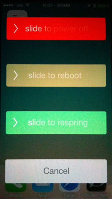 Add Respring and Reboot Sliders to the iPhone | The iPhone FAQ