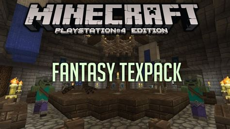 """Minecraft PS4 """"FANTASY"""" Texture Pack Review! (PS4"""