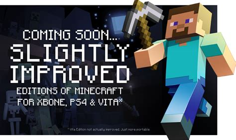 Minecraft: Release Date Update for PS Vita, PS4 and Xbox