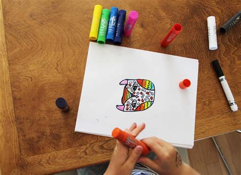 Rainbow Owls Drawing and Painting Lesson with Kwik Stix