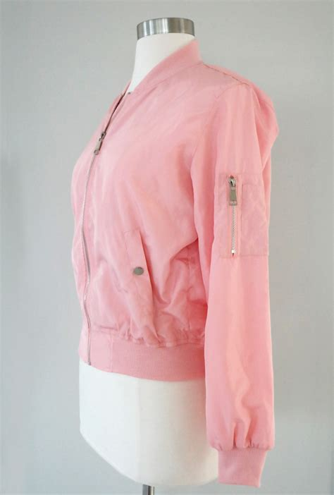 Pink Ladies Bomber Jacket in Dust Pink   Sincerely Sweet