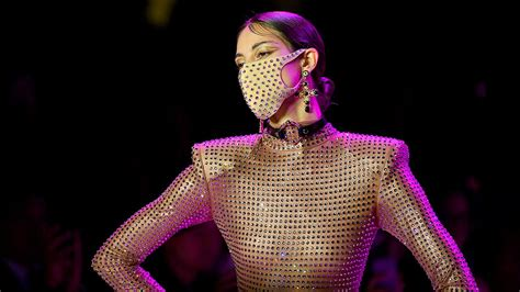 Face masks are must-have accessory of London fashion week