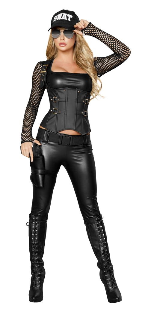 Sexy SWAT Agent Costume, Sexy Cop Costume, Police Woman
