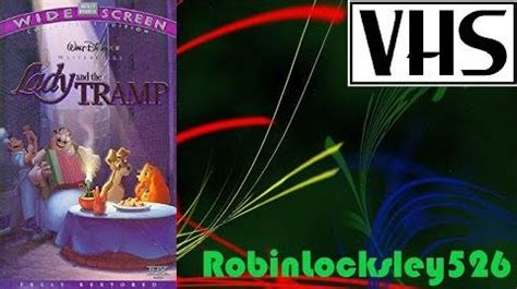 """Video - VHS Previews from """"Lady and the Tramp Widescreen"""
