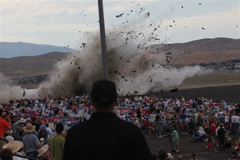 Vintage plane crashes near grandstand at Nevada air race