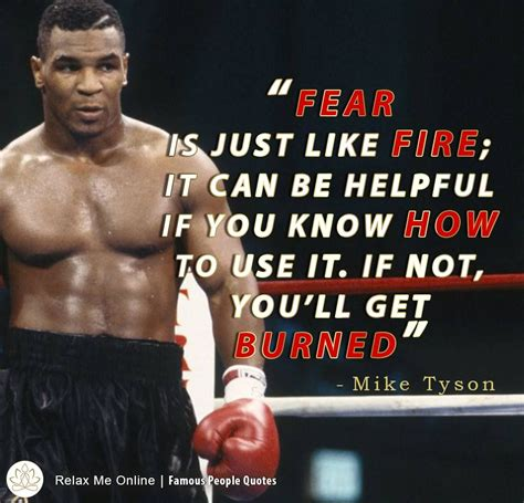 Fear is just like Fire; it can be helpful if you know how