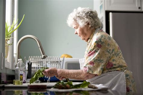 Free picture: elderly, woman, kitchen, cleaning, fresh