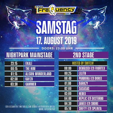 FM4 Frequency 2019: Timetable - Musiknews 19