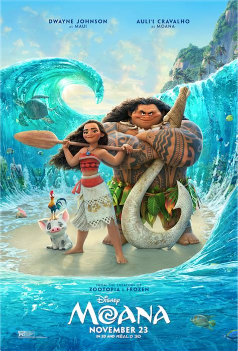 New 'Moana' poster showcases characters, voiced by Auli'i