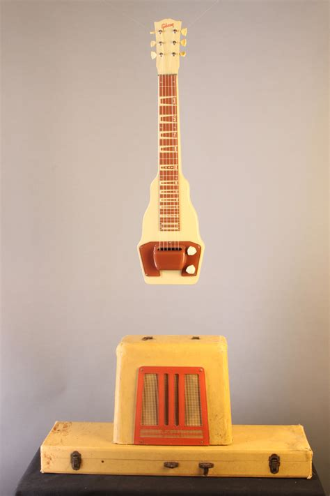 EU2897 Gibson BR-9 lap steel and amp late 1940s