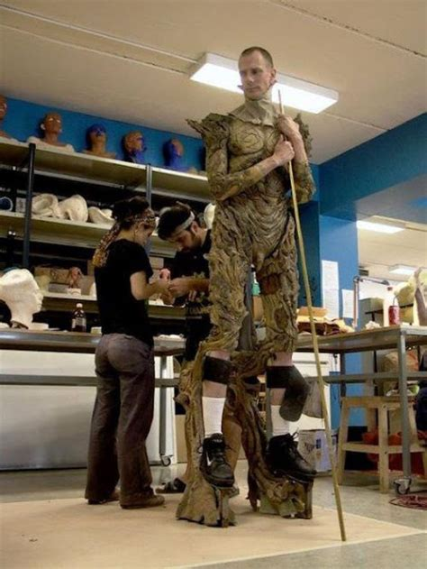 The process of bringing the faun from Pan's Labyrinth to