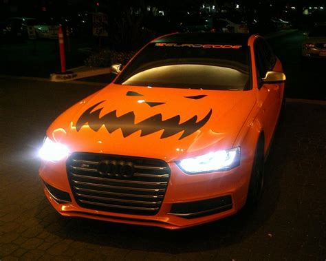 Orange Supercar Duo Goes Trick-or-Treating with Halloween