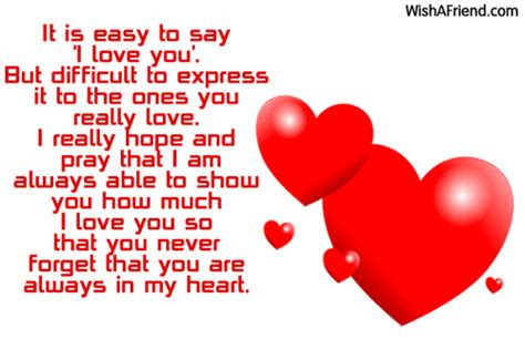 It is easy to say 'I, I Love You Message