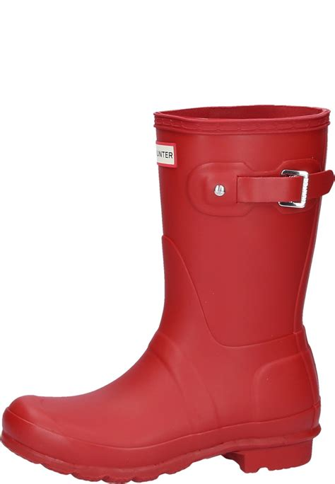 WOMENS ORIGINAL SHORT military red wellington boots for