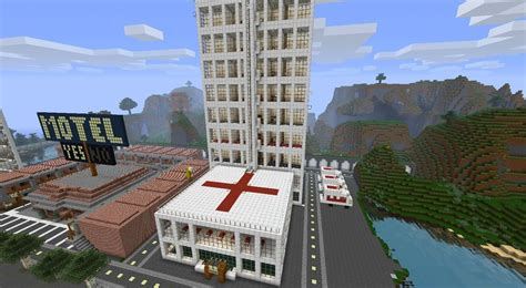 City Hospital with Morgue Minecraft Project